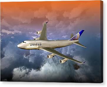 747-400 Uao 01 Canvas Print
