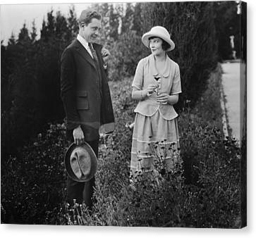 Aodng Canvas Print - Silent Film Still: Couples by Granger