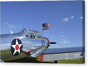 A Bt-13 Valiant Trainer Aircraft Canvas Print by Stocktrek Images