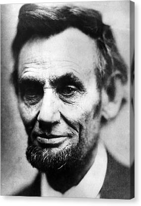 Abolitionist Canvas Print - Abraham Lincoln 1809-1865, U.s by Everett