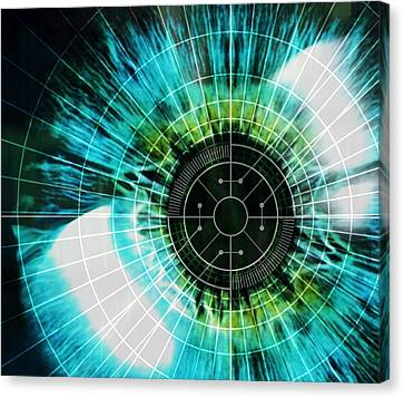 Biometric Eye Scan Canvas Print by Pasieka