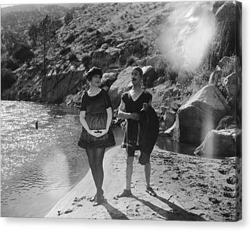 Aodng Canvas Print - Film Still: Beach by Granger
