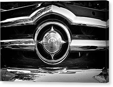 Custom Ford Canvas Print - 8 In Chrome - Bw by Christopher Holmes