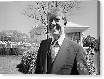 Jimmy Carter (1924- ) Canvas Print by Granger