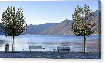 Lake Maggiore Canvas Print by Joana Kruse