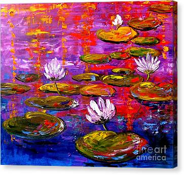 Lif Canvas Print - Lily Pond by Inna Montano