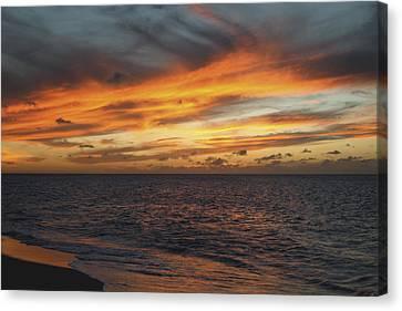 North Shore Sunset Canvas Print by Vince Cavataio