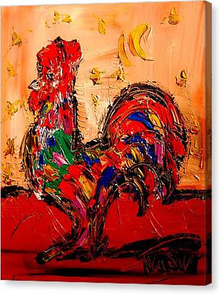 Rooster Canvas Print by Mark Kazav