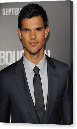 Taylor Lautner At Arrivals Canvas Print by Everett