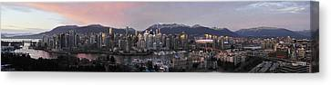 Vancouver Skyline Panorama Canvas Print by Wesley Allen Shaw