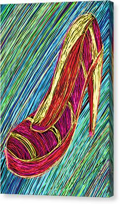 80's High Heels Canvas Print by Kenal Louis