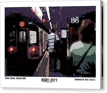 Canvas Print featuring the photograph 86th Street by Kenneth De Tore