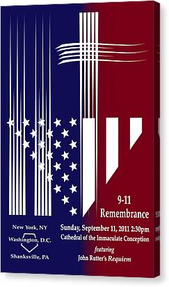 9-11 Rememberance Canvas Print by Jane Bucci
