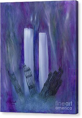 9-11 Remembering Canvas Print by Judy Filarecki