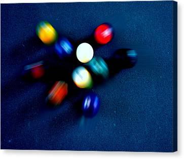 9 Ball Break Canvas Print by Nick Kloepping