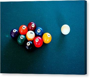 9 Ball Canvas Print by Nick Kloepping