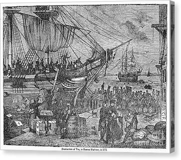 Tea Party Canvas Print - Boston Tea Party, 1773 by Granger