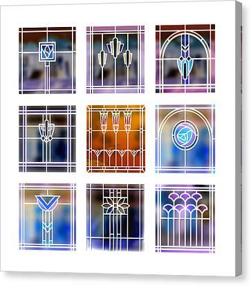 9 Bungalow Windows 2 Canvas Print