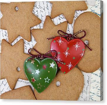 Glitter Canvas Print - Christmas Gingerbread by Nailia Schwarz