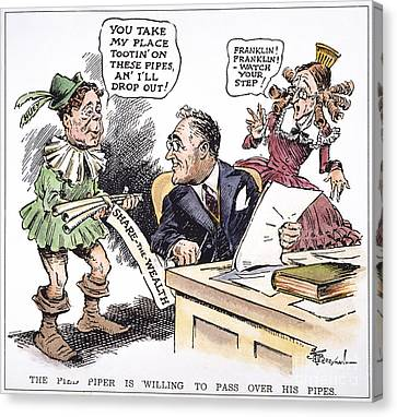 F.d. Roosevelt Cartoon Canvas Print by Granger