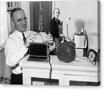Harry S. Truman (1884-1972) Canvas Print by Granger