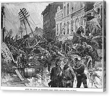 Johnstown Flood, 1889 Canvas Print by Granger