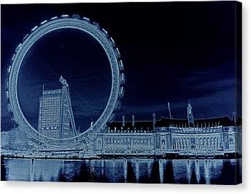 London Eye Art Canvas Print by David Pyatt