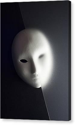Plaster Mask In Studio Canvas Print by Kantapong Phatichowwat