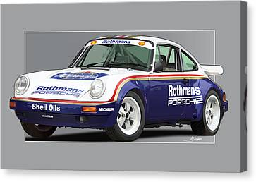 911 Porsche 911 Sc Rs Canvas Print
