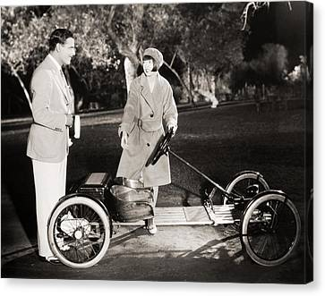 Go Cart Canvas Print - Silent Film Still: Couples by Granger
