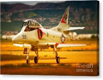 A-4 Skyhawk Up For A Hunt Canvas Print by Gus McCrea