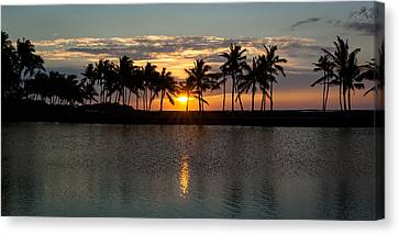 A-bay Sunset Canvas Print by Jen Morrison