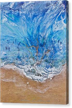 A Beautiful Beach 1 Canvas Print by Dora Woodrum