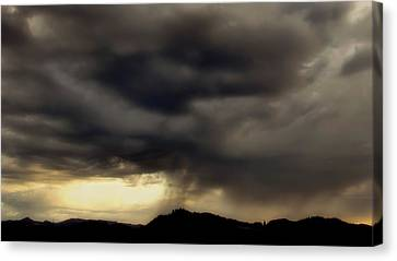 Canvas Print featuring the photograph A Beautiful Storm by Katie Wing Vigil