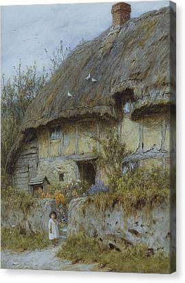 A Berkshire Cottage  Canvas Print by Helen Allingham