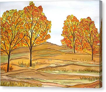 A Bit Of Fall Canvas Print