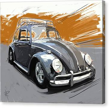 Rack Canvas Print - A Black Bug by Russell Pierce