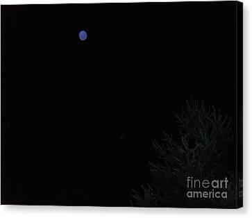 A Blue Non-moon Rising Canvas Print by Doug Kean
