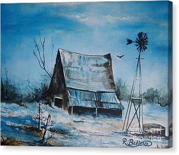 A Blue Winter In Texas Canvas Print by Robert Ballance