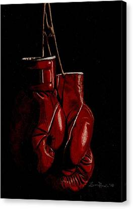A Boxer's Passion Canvas Print by Laura Evans