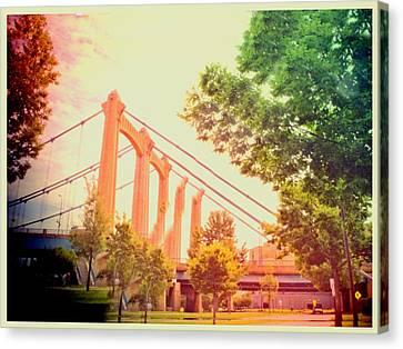 A Bridge In Minneapolis  Canvas Print by Susan Stone
