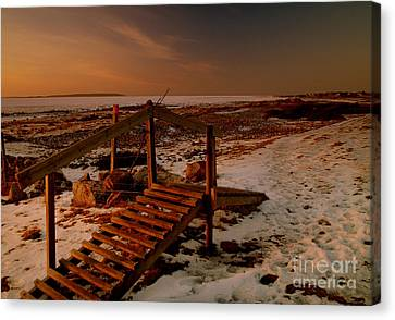 A Bridge To Nowhere Canvas Print by Michael Canning