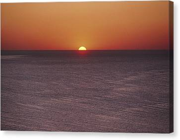 A Brillant Orange Sun, Painting Canvas Print by James L. Stanfield