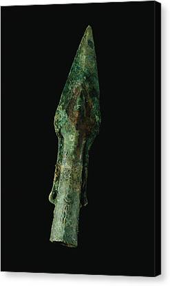 A Bronze Spear Found In Canvas Print by O. Louis Mazzatenta