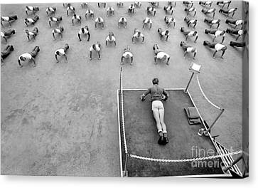 Fitness Instructor Canvas Print - A Buds Instructor Leads Students by Michael Wood