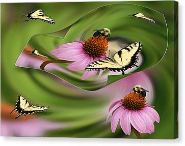 A Busy Garden Canvas Print