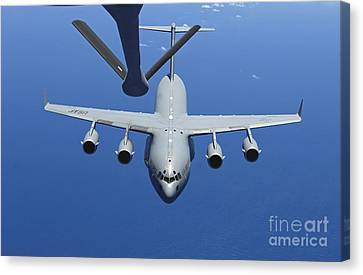 A C-17 Globemaster IIi Approaches Canvas Print by Stocktrek Images