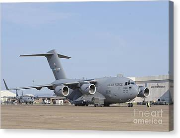 A C-17 Globemaster IIi Parked Canvas Print by Stocktrek Images