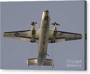 A C-2 Greyhound In Flight Canvas Print by Stocktrek Images