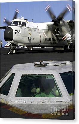 A C-2a Greyhound Prepares For Launch Canvas Print by Stocktrek Images